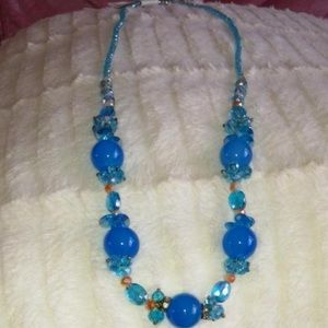 Jewelry - Chinese Style Blue Rope Necklace